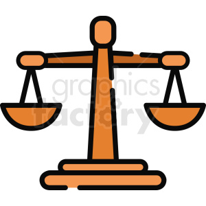 justice scale icon clipart. Commercial use image # 409071