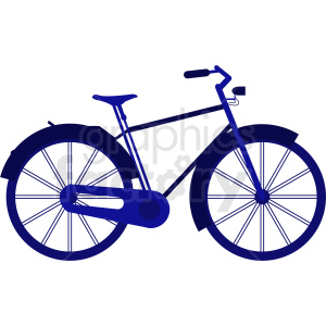 bicycle vector clipart. Royalty-free image # 409134