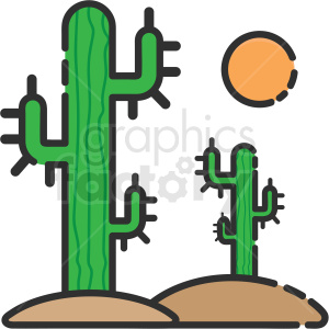 desert cactus icon clipart. Commercial use image # 409153