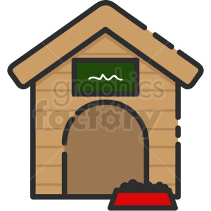 dog house icon clipart. Royalty-free image # 409163