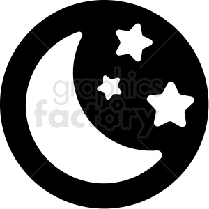 moon stars circle icon clipart. Royalty-free image # 409192