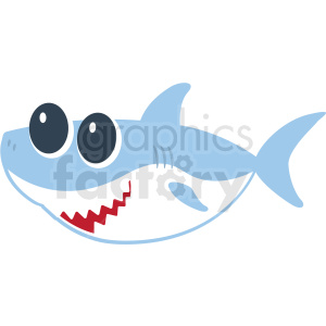 baby shark cut file facing left clipart. Commercial use image # 409231