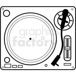 turntable vector clipart. Royalty-free image # 409252