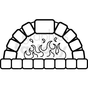 brick oven pizza design clipart. Royalty-free image # 409254