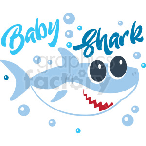 baby shark typography design clipart. Commercial use image # 409218