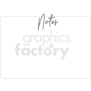 notes digital planner sticker clipart. Royalty-free image # 409354
