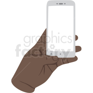 african american hand barely holding phone vector clipart clipart. Royalty-free image # 409452