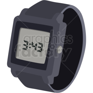digital watch clipart. Royalty-free image # 409483