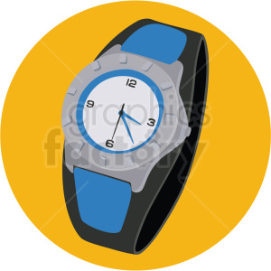 mens watch yellow background clipart. Royalty-free image # 409492