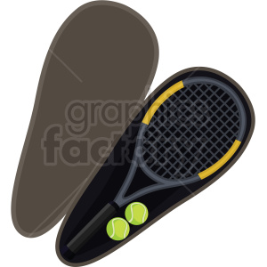tennis racket and case vector clipart clipart. Royalty-free image # 409555