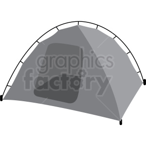 pop up camping tent vector clipart clipart. Royalty-free icon # 409593