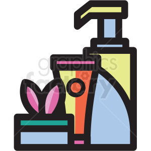 lotion bottle vector icon clipart clipart. Commercial use image # 409602