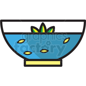 bowl of water vector icon clipart clipart. Royalty-free image # 409614