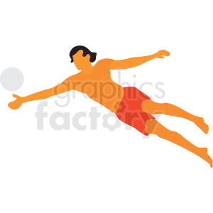 man jumping for volleyball on beach clipart. Royalty-free image # 409646