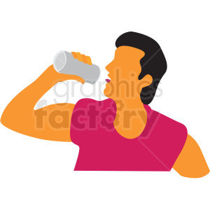 man drinking can of beer clipart. Royalty-free image # 409672