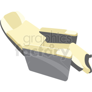 first class airplane seat image clipart. Commercial use image # 409702
