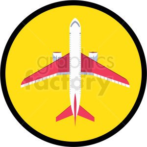 airplane icon clipart. Royalty-free image # 409704