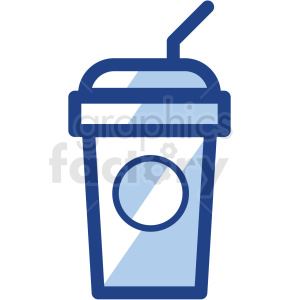 ice coffee cup no background vector icons