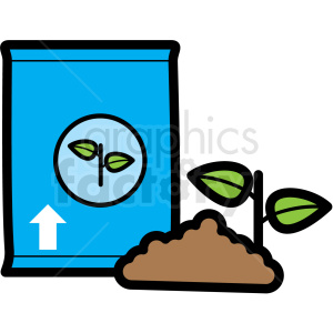 plating soil for plants clipart. Commercial use image # 409732