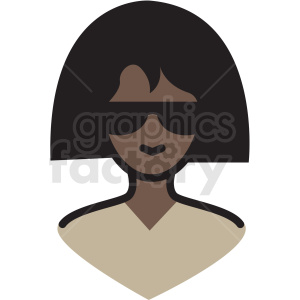 black woman avatar vector clipart clipart. Commercial use icon # 409763