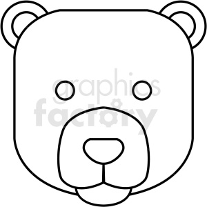 black and white bear icon clipart. Royalty-free image # 409801