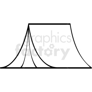 black and white tent icon clipart. Commercial use image # 409803