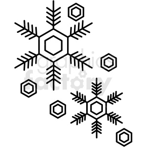 black and white snowflake icon clipart. Royalty-free image # 409807
