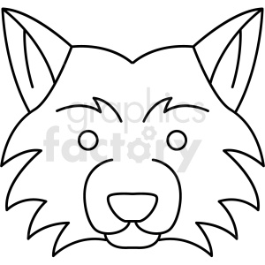 black and white fox head icon clipart. Royalty-free image # 409818