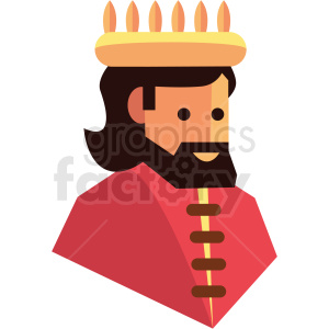 king game character vector icon clipart clipart. Royalty-free image # 409832