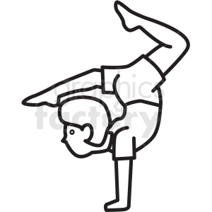 person doing yoga icon clipart. Commercial use image # 409904
