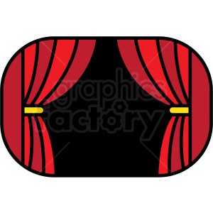 red stage curtain icon