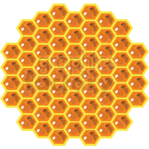 cartoon honeycomb vector clipart no background