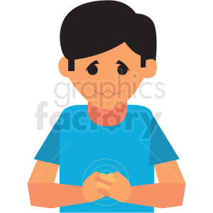 boy with upset stomach vector icon clipart. Royalty-free image # 410119