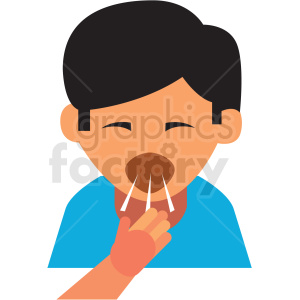 boy coughing cartoon vector icon clipart. Commercial use image # 410120