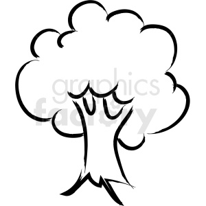 cartoon tree drawing vector icon clipart. Commercial use image # 410199