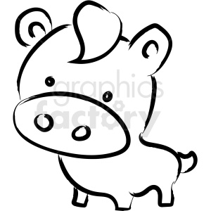 cartoon cow drawing vector icon clipart. Royalty-free image # 410217