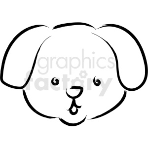 puppy face drawing vector icon