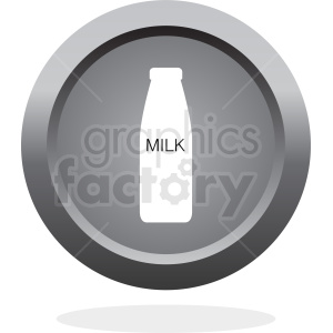 button with bottle of milk clipart. Commercial use image # 410279