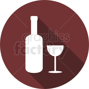 wine bottle with glass on dark red background clipart. Commercial use image # 410288