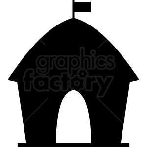 circus tent silhouette icon clipart. Commercial use image # 410394