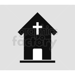 religious building silhouette vector icon gray background clipart. Royalty-free image # 410396
