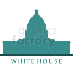 white house washington dc vector clipart. Commercial use image # 410444
