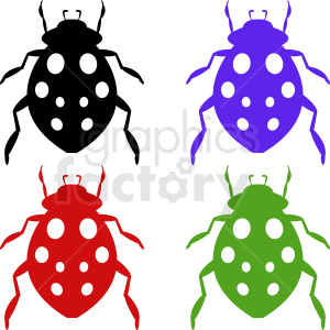 vector beetle clipart set clipart. Royalty-free image # 410491