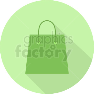 green bag on circle background clipart. Commercial use image # 410508