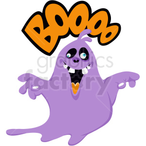 ghost saying boo cartoon clipart. Royalty-free image # 410561