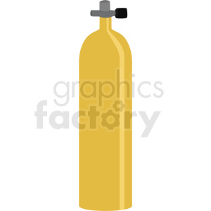 yellow scuba diver tank vector clipart clipart. Royalty-free image # 410586
