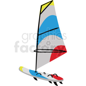 wind surfing vector clipart clipart. Royalty-free image # 410611