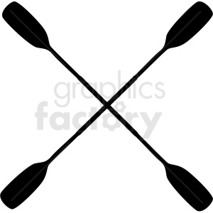 crossed kayak paddles silhouette vector clipart clipart. Commercial use image # 410613