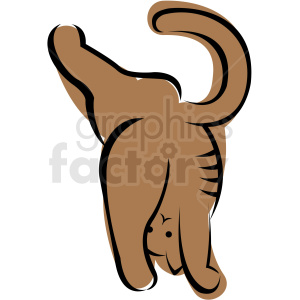 cartoon cat doing yoga poses vector clipart. Commercial use image # 410646