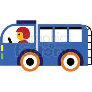 cartoon truck vector icon clipart. Royalty-free image # 410678